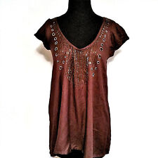 NWOT Antik Batik Short Sleeve Blouse Size L