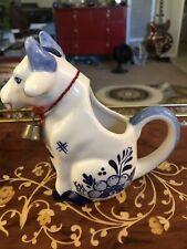 VINTAGE DELFT BLUE CREAMER COW FIGURE