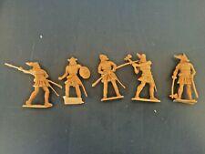 Cherilea Vikings re-issues 70mm plastic. 5 figures