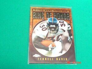 TERRELL DAVIS 2002 Topps Chrome *Ring of Honor SB32* Insert card #TD32 (Broncos)