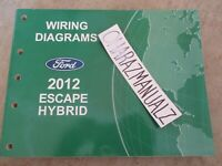 2005 Ford Escape Hybrid Wiring Diagrams Service Manual Oem Ebay