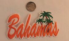 """BAHAMAS""  Embroidered Iron On Patch 4 1/2""x 2 1/4"" Awesome!!  Orange!"