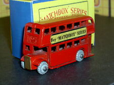 Matchbox Moko Lesney Double Decker Bus 5 a1 MW F-C plate SC1 VNM & crafted box