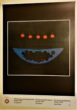 YOZO HAMAGUCHI Original SARAJEVO XIV WINTER OLYMPIC GAMES 1984 Lithograph Poster