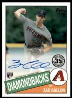 2020 Update 1985 Baseball Auto #85A-ZG Zac Gallen RC- Arizona Diamondbacks