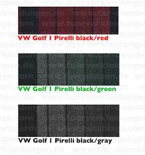 VW Golf GTI Pirelli Streifen Stoff fabric tissu tela tessuto Bezug Sitzbezug neu