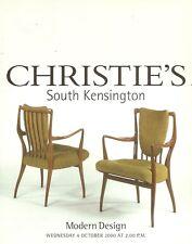 Christie's Sale 8886 Modern Design UK Auction Catalog 2000