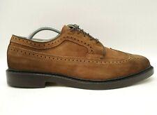 Allen Edmonds Brown Leather Longwing Wingtip Lace Up Oxfords Shoes Men's 9 D