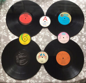 4 Quality Hand Crafted Genuine Original Vinyl Record Placemats And Coasters