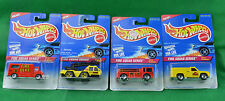 4 Hot Wheels Fire Squad Series 1996 Ambulance Rescue Ranger Flame Stopper Eater