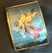 Vintage ANGEL BRASS & GLASS MUSIC BOX Plays A Whole New World THOMAS CATHEY