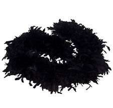 Feather Boa Black Party 6 Foot Costume Accessory NWT