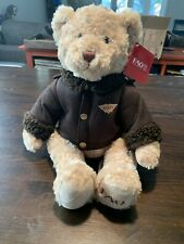 NWT FAO Schwartz 2014 Bomber Jacket Teddy Bear Plush ~ New