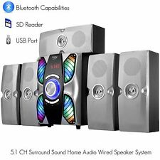 Frisby FS-6900BT Home Theater Surround System 5.1 w/ Bluetooth Streaming SD USB
