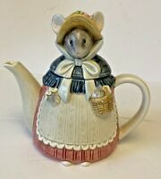 Vintage Otagiri Mouse Tea Pot Grandma Mouse Figural Tea Pot Japan