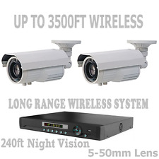 Long Range Wireless Security Cameras Video Up To 3,500 Feet CCTV System + DVR