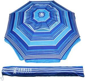 Outdoor Patio Beach Umbrella Sun Shelter Tilt Air Vent Carry Bag 6.5 ft Summer