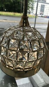 Thin metallic frame crystallic table lamp with incorporated LED [CDG03]