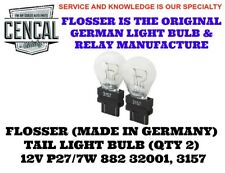 FLOSSER (MADE IN GERMANY) TAIL LIGHT BULB (QTY 2)  12V P27/7W 882 32001, 3157