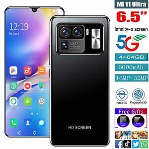"MI11 Ultra 6.5"" Face ID Smart phone Android10 4+64GB 6000mah GoodGift New 2021@"