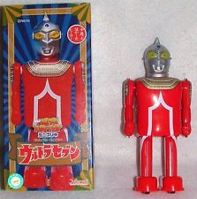 "ORIGNL ULTRA 7 MARMIT 6""TIN WIND UP WALKING TSUBURAYA JAPAN1990's ROBOT NEWnBOX"
