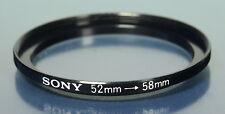 Sony ø52mm on ø58mm adapter ring adapting Ring Filter Filter Step Up - (42231)