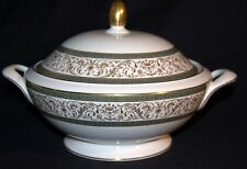 MINTON ARAGON ROUND COVERED VEGETABLE BOWL FINE BONE CHINA MADE IN ENGLAND