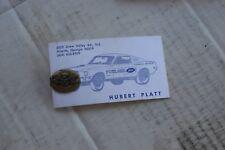 1963-67 Ford 427 Dealer Promotional Tie Tack, Hubert Platt Business Card!!!