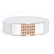 Fashion Dress Belts for Women Hight Waist Wide Bling Studded Buckle Elastic Belt