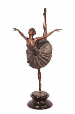 Bronze Skulptur Ballett Tänzerin Ballerina neu 99937663-dss