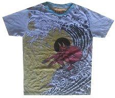 buy online Men T Shirt SURF SEA OCEAN DEVIL BEACH SUMMER Hobo Boho L RARE WEED