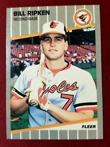 1989 Fleer #616 BILL RIPKEN F@CK FACE Expletive Error Card Baltimore Orioles