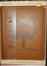 Our Family History Keepsake Journal Scrapbook New Trends Italian Leatherette NEW