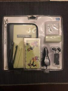 Nintendo DS Starter Kit -Case Stylus Car Adapter Headphones - Lime Green -New