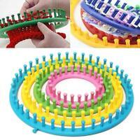 Round Knitting Loom Set Knit Circle Tool knitter Peg Kit Hat Sock Scarf DIY Tool