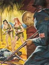 PULP FICTION JAPANESE WWII BATTLE WOMEN ILLUSTRATION ART PRINT POSTER BB9380