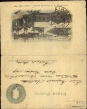 Buenos Aires 1898 Fold Open Government Postal Card Postcard