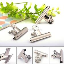 10Pcs Stainless Steel Silver Bulldog Clips Money Letter Paper File Clamps 31mm