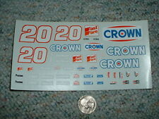 JNJ Hobbies 1/24 1/ 25  Decals #20 Crown Fast Fare Rob Moroso  CCC