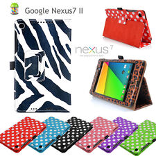 Google Nexus 7 II (2nd Generation)  leather Wallet Smart Flip Case Cover