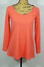 Lularoe Lynnae Long Sleeve Tee Size XXS Ribbed Orange Sherbet Color A-Line Shape