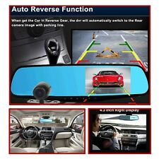 "HD1080P Vehicle Car 4.3"" DVR For Sun Visor - Dash Cam Recorder with rear camera"