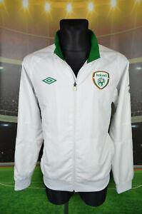 IRELAND EIRE UMBRO FOOTBALL SHIRT (L) JERSEY TOP TRIKOT JACKET BLOUSE WHITE