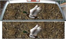 Grassland camouflage duck hunting rear window view thru graphic decal wrap