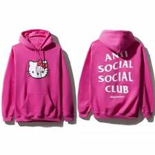 DS Anti Social Social Club ASSC x Hello kitty logo Pink Hoodie hoody M