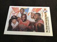 1991 Skybox Chicago Bulls Starting Team #337 Michael Jordan Scottie Pippen