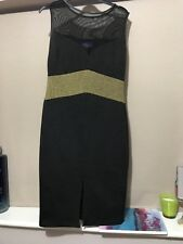 Black and gold Amy Childs dress Size 10
