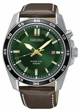 Seiko Gents Kinetic Leather Strap Watch - SKA791P1 NEW