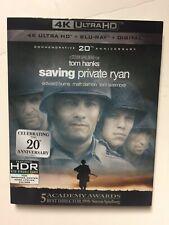 Saving Private Ryan (4K Uhd Blu-ray/Blu-ray, Digital, 2018) New w/slipcover