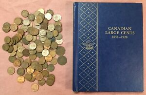 41 Canada Large & 118 Small Cents ~ Deluxe Whitman Folder ~ 159 Coins Total